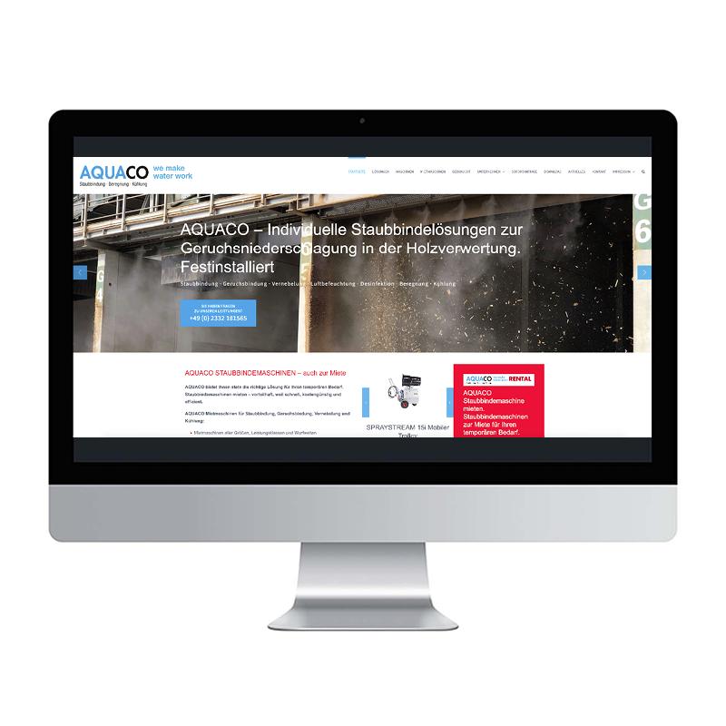 adcom werbeagentur Corporate Design Web-Design AQUACO GmbH Gevelsberg
