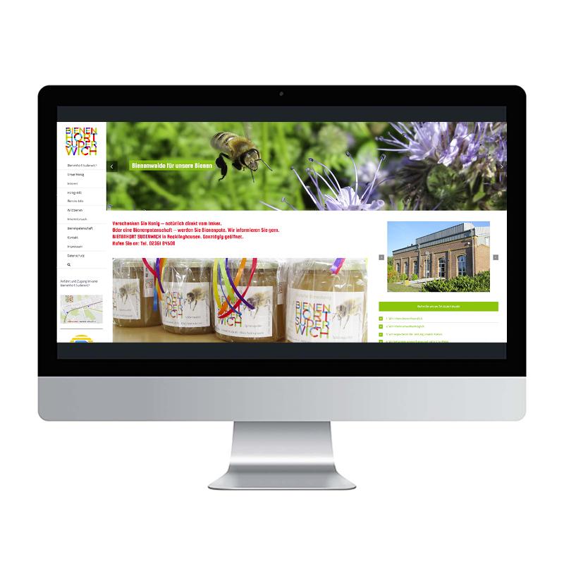adcom werbeagentur Corporate Design Web-Design BIENENHORT SUDERWICH Imkerei Recklinghausen