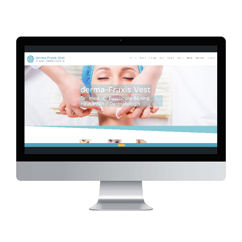 adcom werbeagentur Corporate Design Web-Design Derma-Praxis Vest Recklinghausen