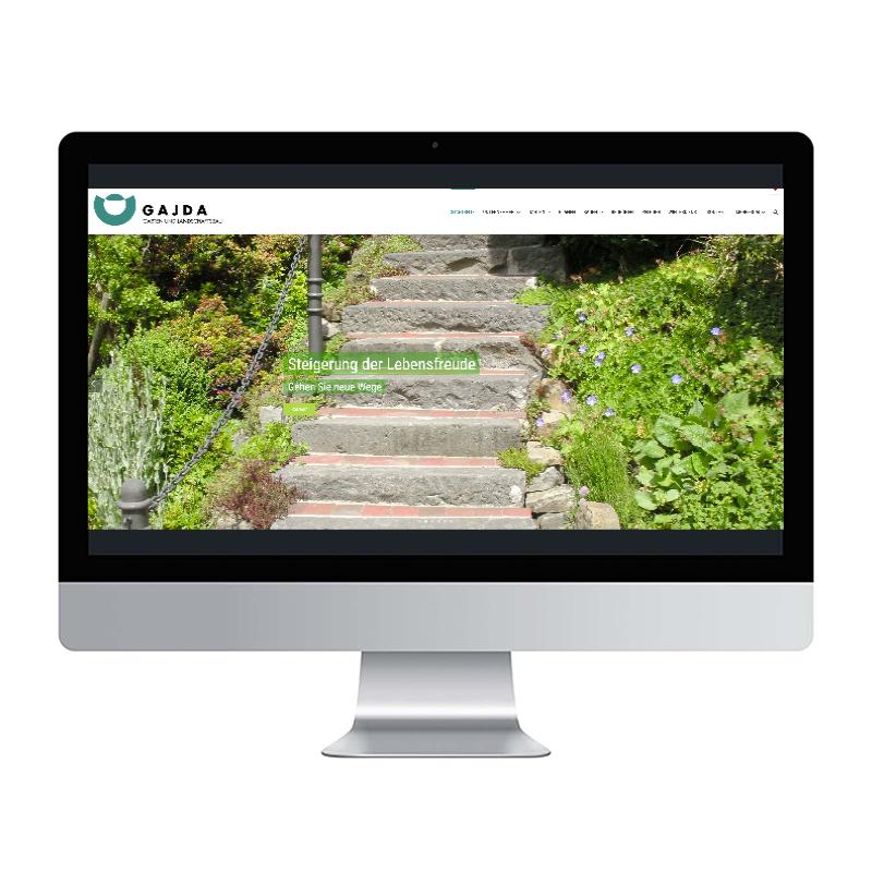 adcom werbeagentur Corporate Design Web-Design Gajda Garten- und Landschaftsbau Velbert
