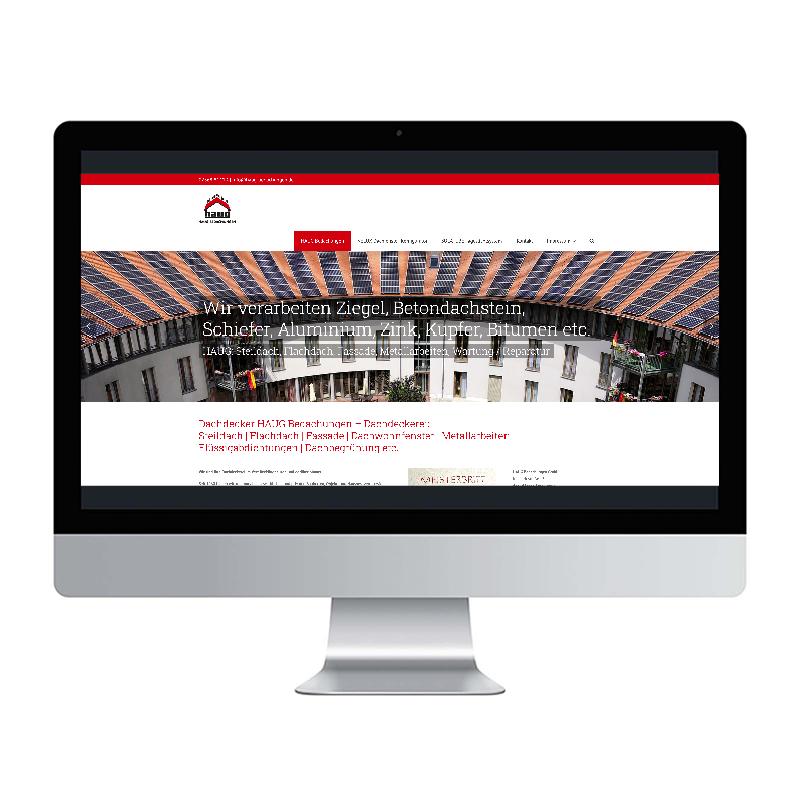 adcom werbeagentur Corporate Design Web-Design Haug Bedachungen Oer-Erkenschwick