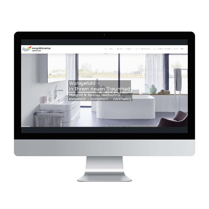 adcom werbeagentur Corporate Design Web-Design Mangold und Ramlau Heiztechnik Marl
