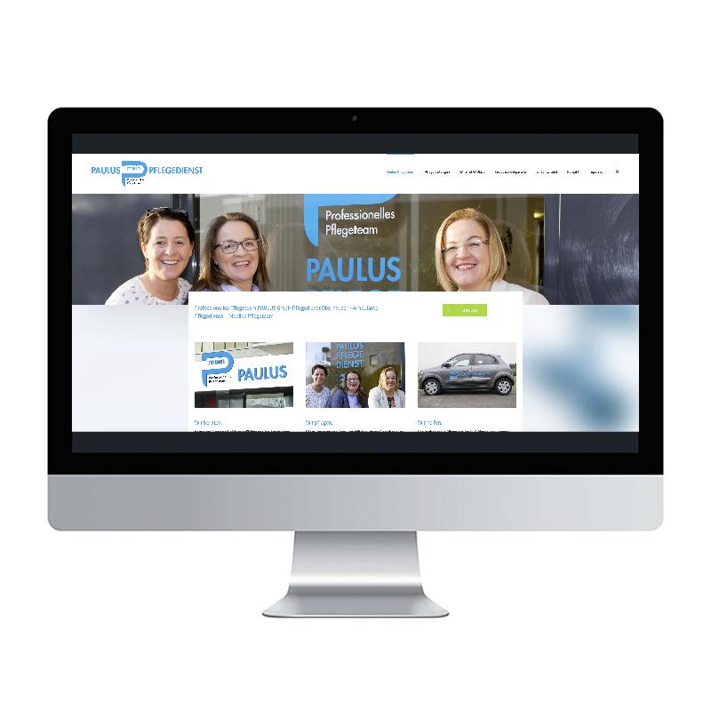 adcom werbeagentur Corporate Design Web-Design Paulus Pflegedienst Oberhausen