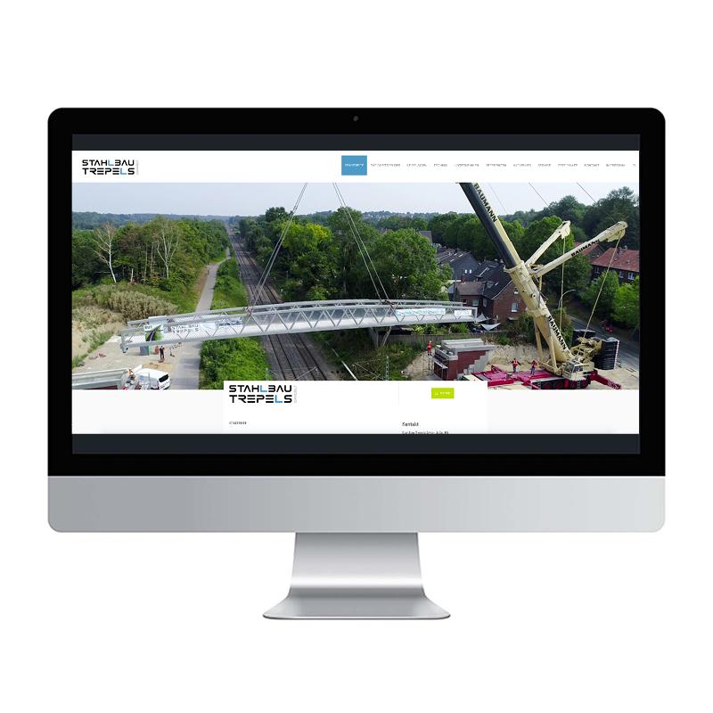 adcom werbeagentur Corporate Design Web-Design Stahlbau Trepels Gangelt