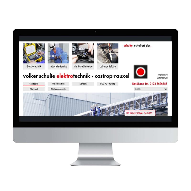 adcom werbeagentur Corporate Design Web-Design Volker Schulte Elektrotechnik