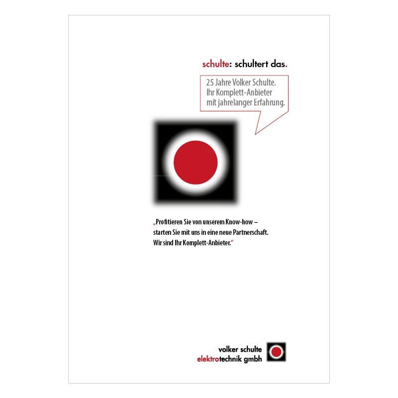adcom werbeagentur Corporate Design Print Volker Schulte Elektrotechnik Castrop-Rauxel Unternehmensportrait