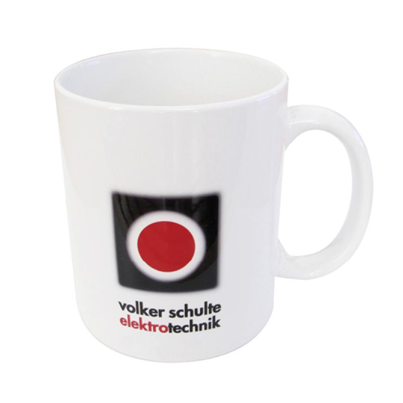 adcom werbeagentur Corporate Design Trinkbecher Volker Schulte Elektrotechnik
