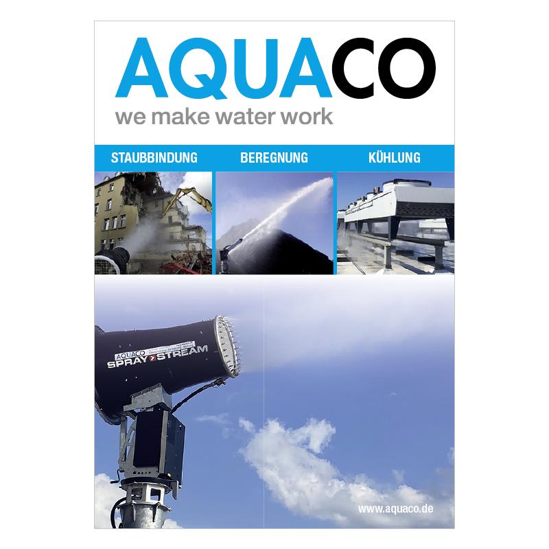 adcom werbeagentur Corporate Design Print AQUACO GmbH Prospekt